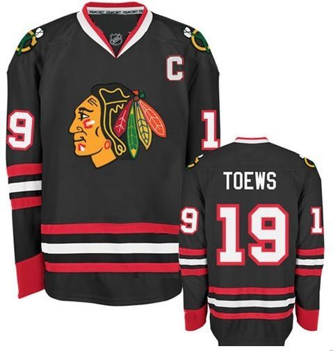 Chicago Blackhawks Mens Jonathan Toews Premier Black Alternate Jersey with  AUTHENTIC TACKLE-TWILL LETTERING 11518737d
