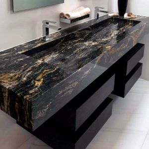 bathroom vanity with built in granite sink superior granite can do rh pinterest com Rustic Bathroom Vanities and Sinks 48 Bathroom Vanity with Sink