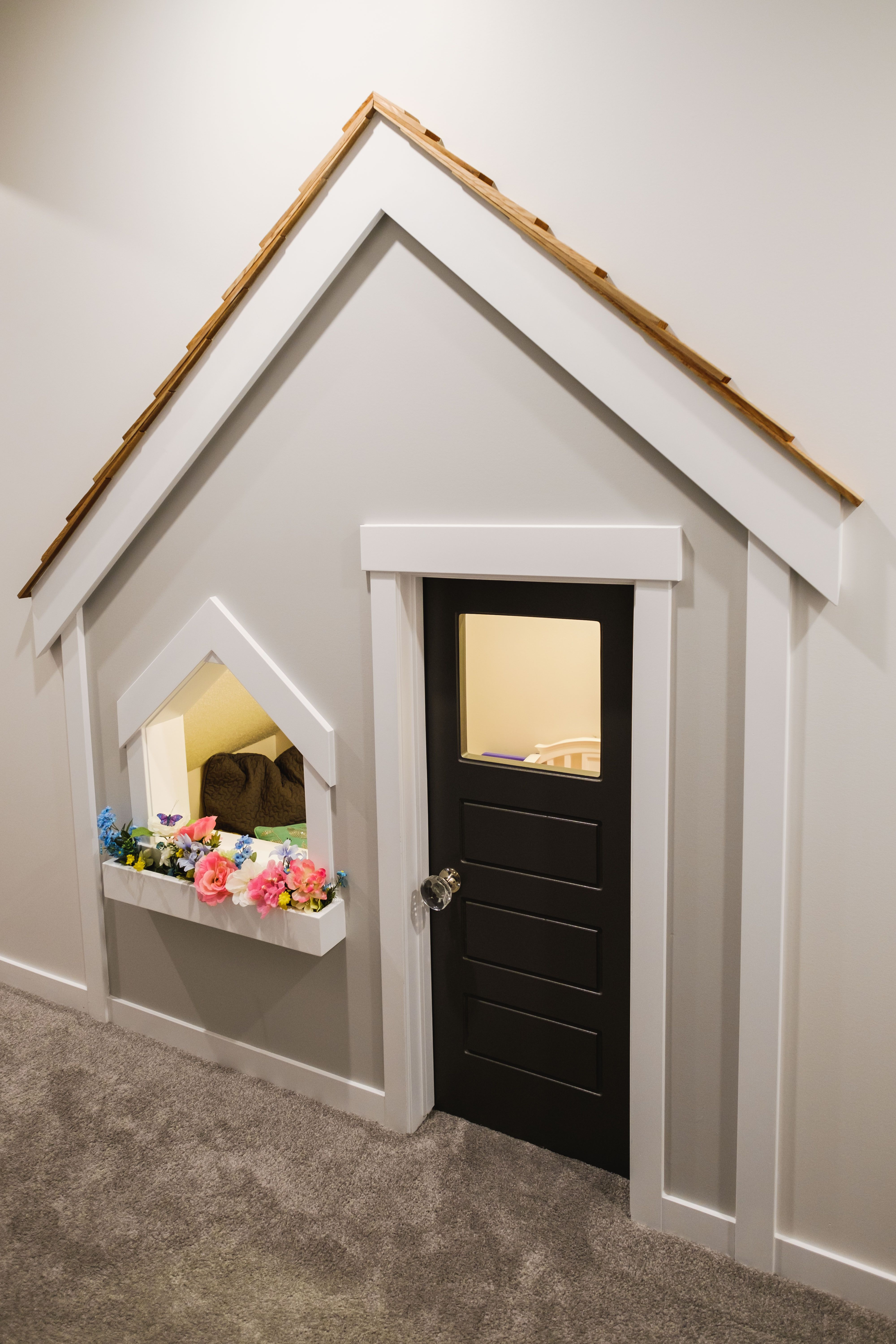 Kids Playhouse Under The Stairs Window Box Crystal
