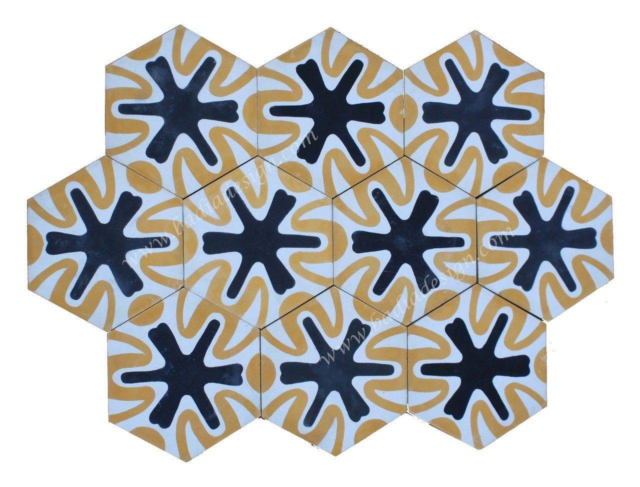 Badia Design Inc Store - Moroccan Hexagon Shaped Cement Tile - CT098 ...