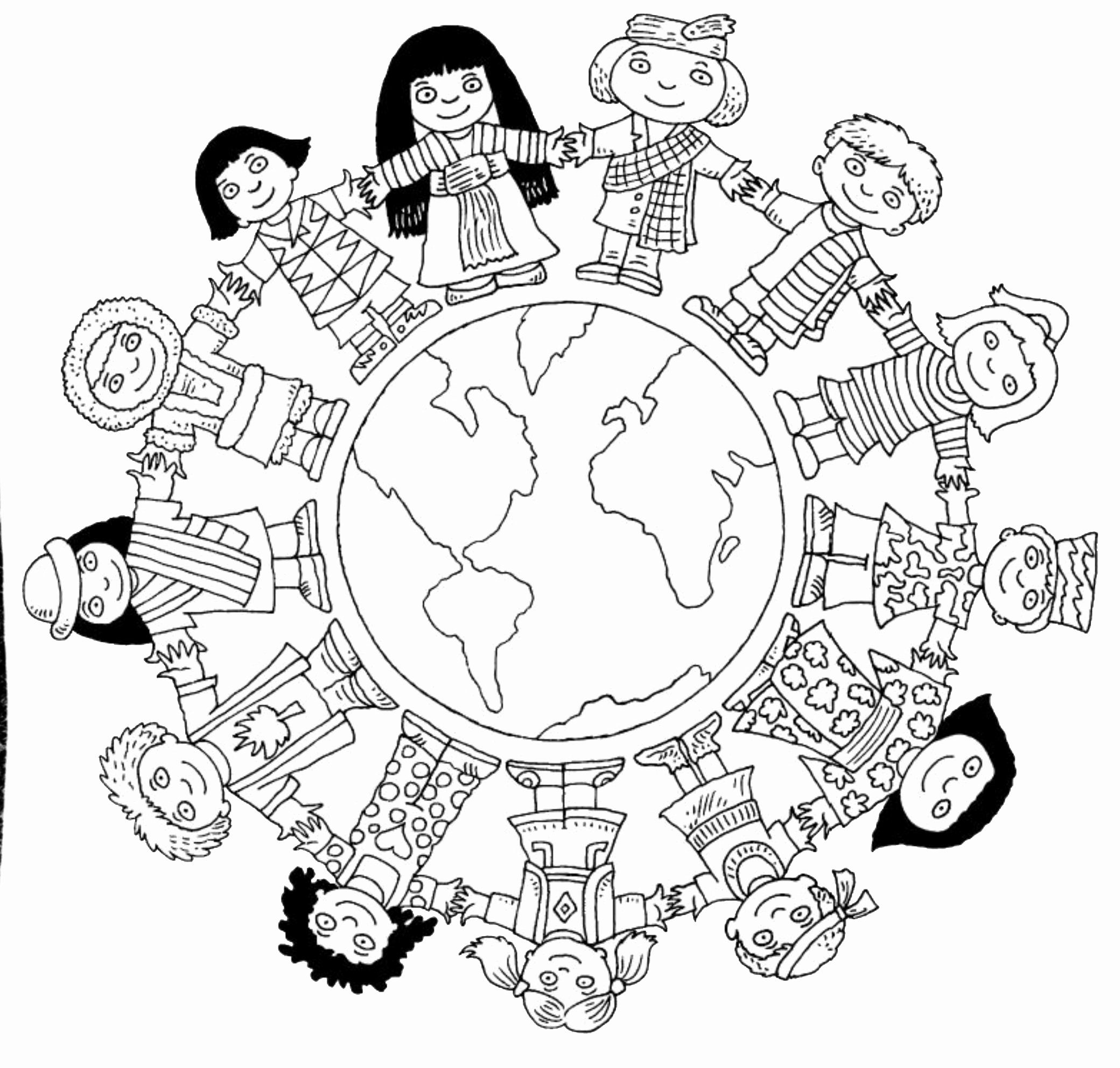 World Map Coloring Page With Countries Luxury Children Around The World Coloring Page World Map Coloring Page Coloring Pages Coloring Pages To Print