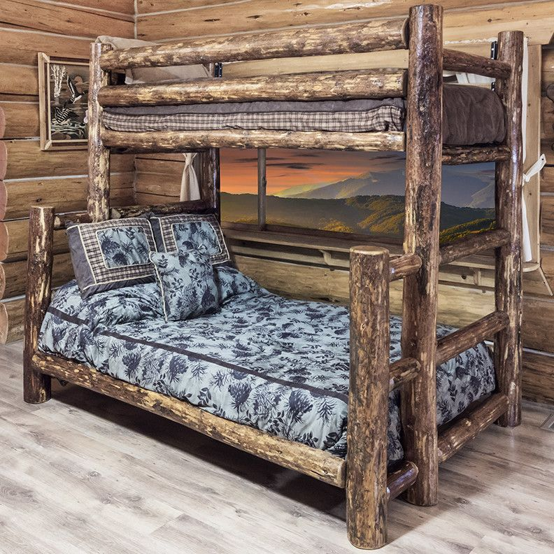 Glacier Country Twin over Full Bunk Bed with BuiltIn