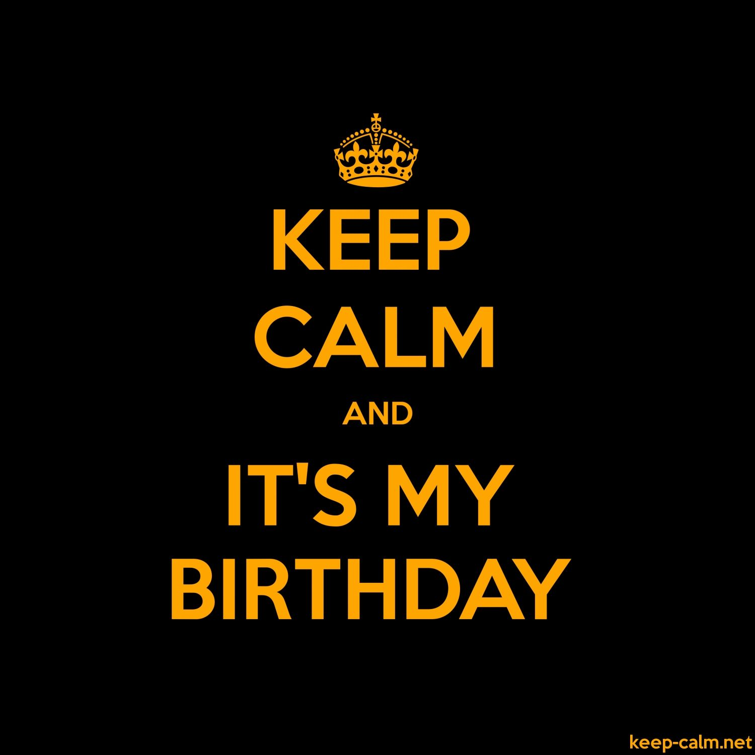 Pin on Keep calm my birthday
