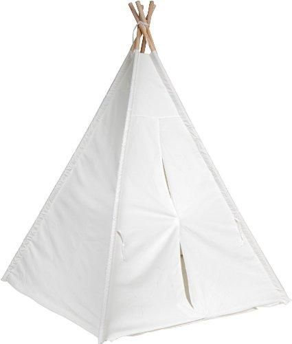 6  Giant Teepee Play House of Pine Wood with Carry Case by Trademark Innovations Toys Red Cup Pong White