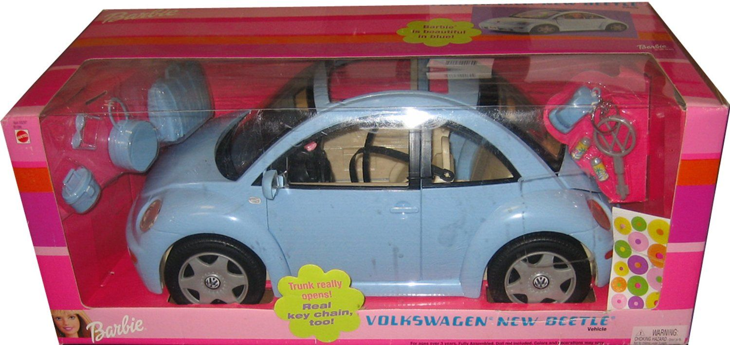 Barbie Volkswagen New Beetle In Light Blue Vw Bug Toys