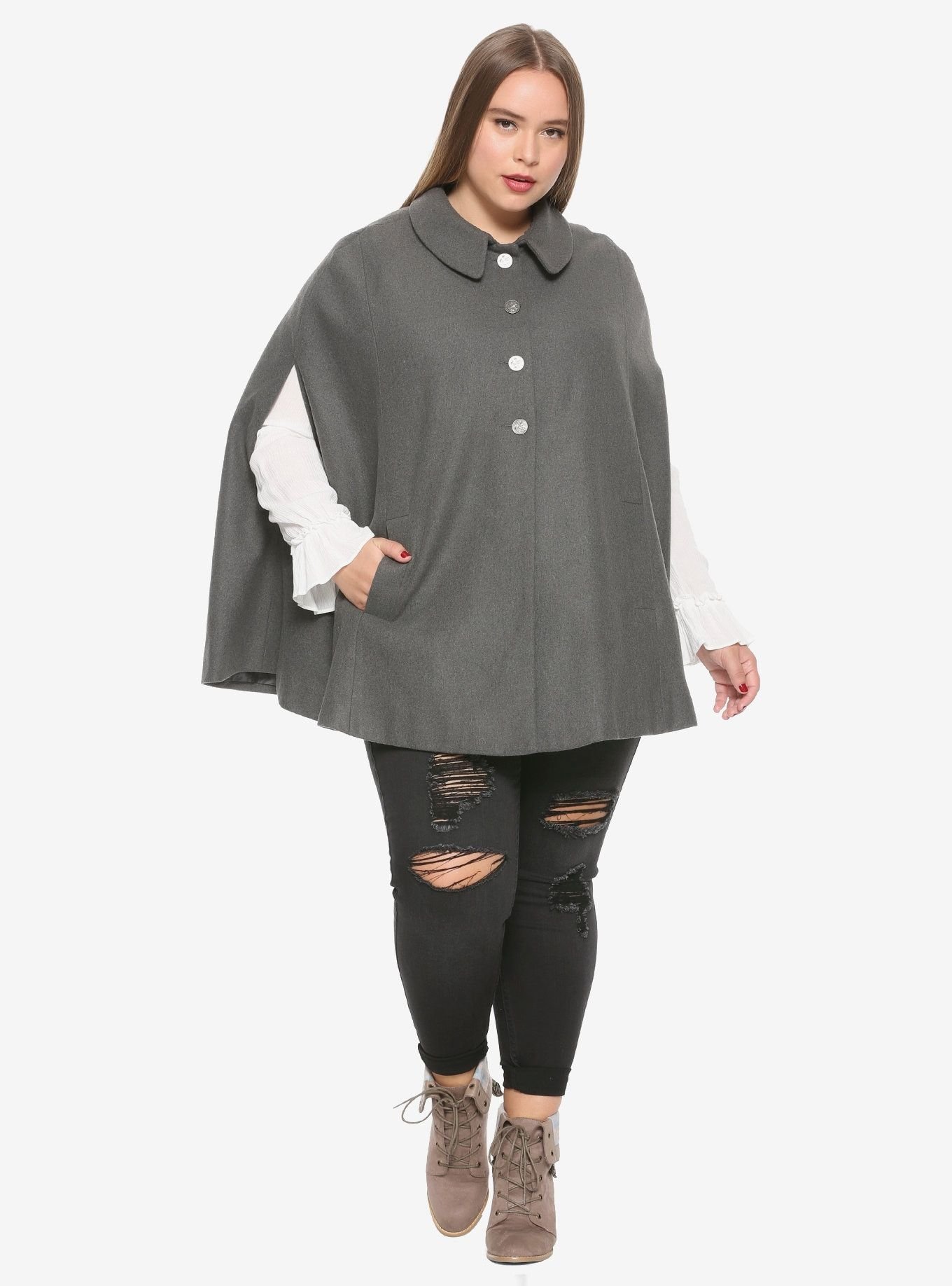 7107339a0a Outlander Girls Cape Plus Size Hot Topic Exclusive