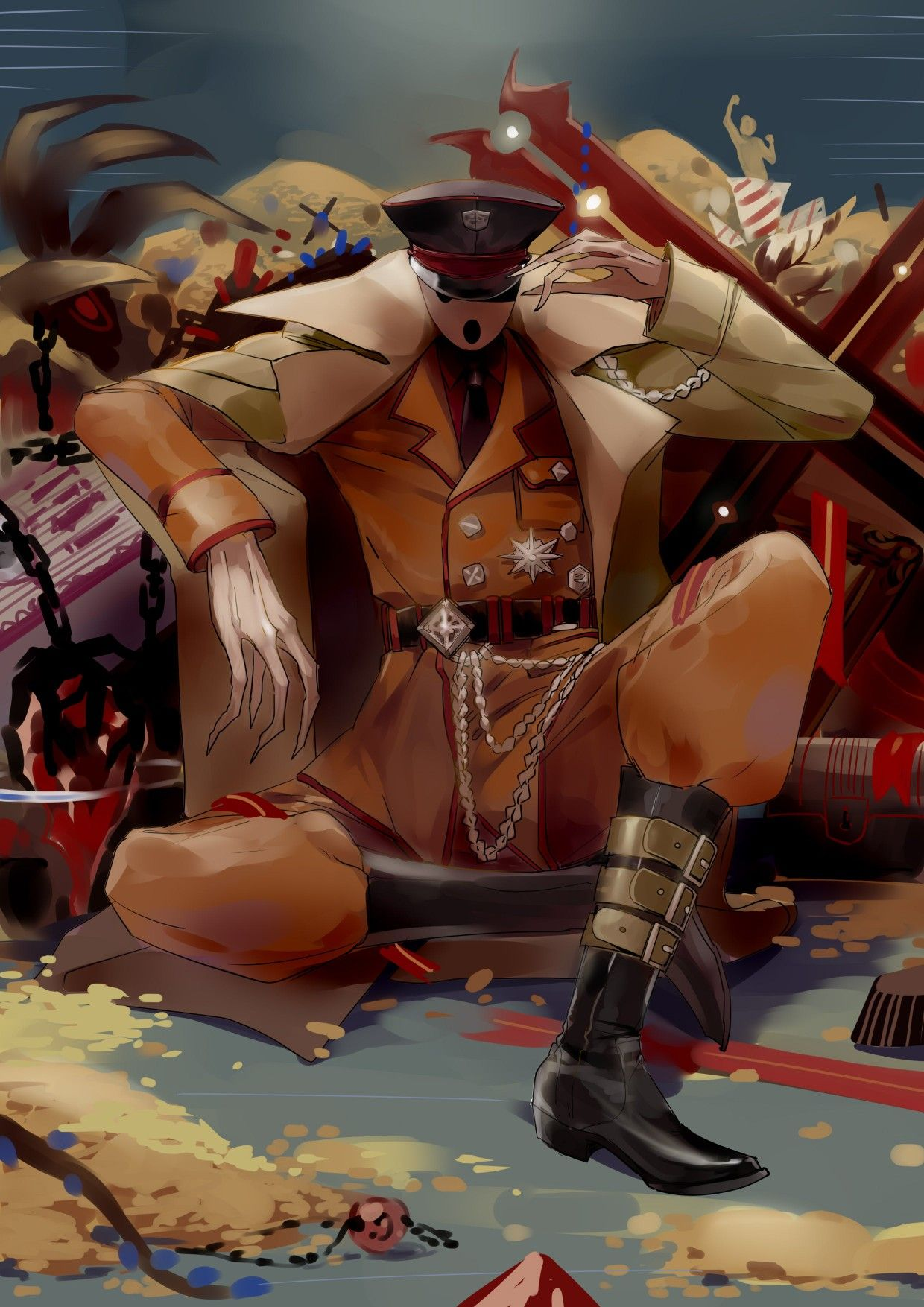 Overlord nazarick ainz momonga germany look anime art