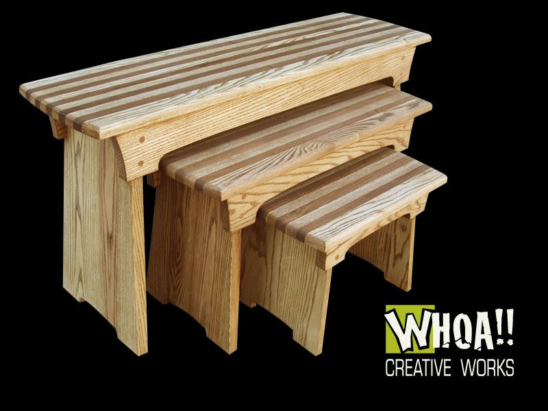Nested Bench, Ash & Walnut