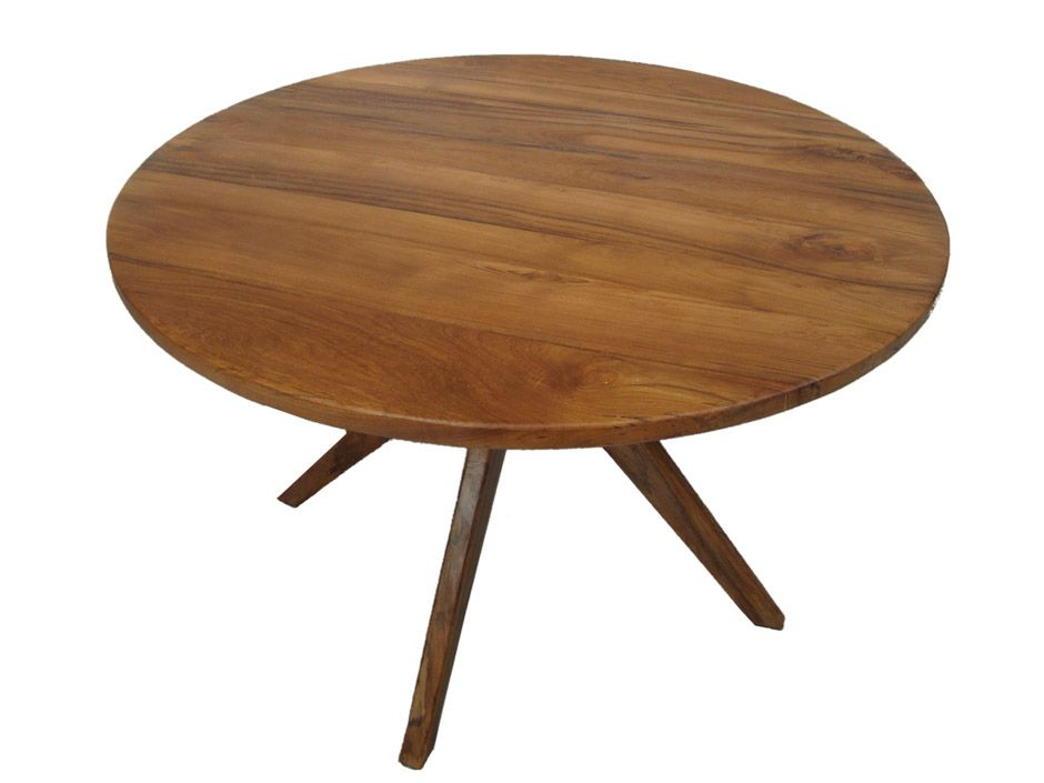 Modern round dining table kitchen pinterest round for Wood modern dining table