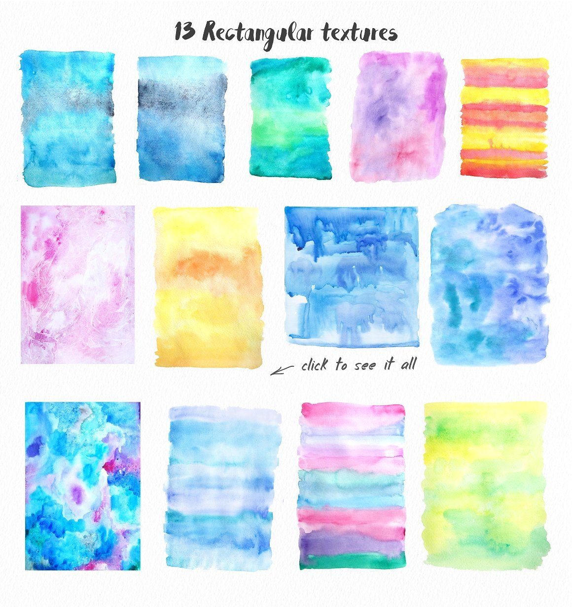 Big Watercolor Textures Pack Illustrator Adobe Created High