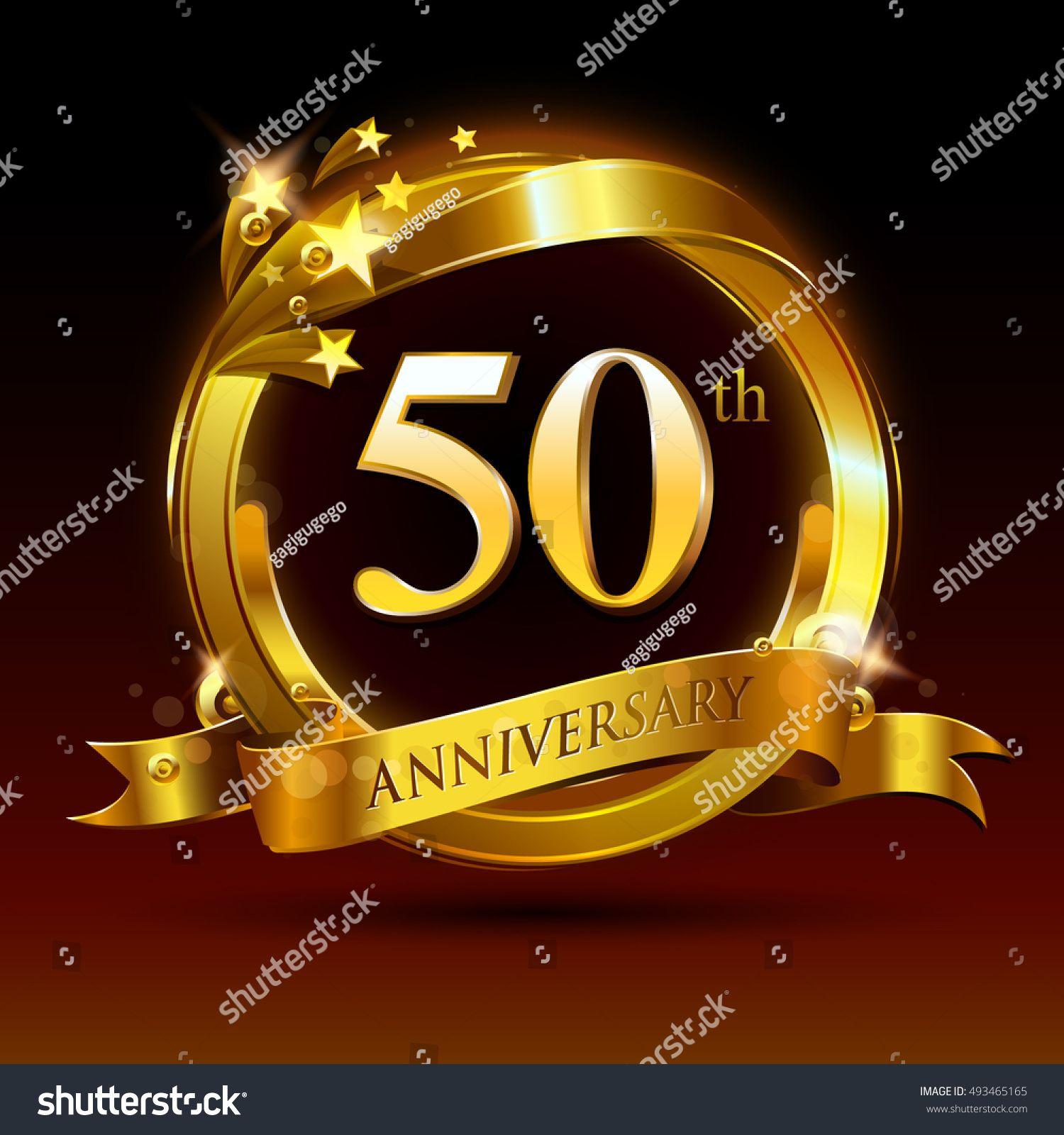 50th golden anniversary logo, 50 years anniversary