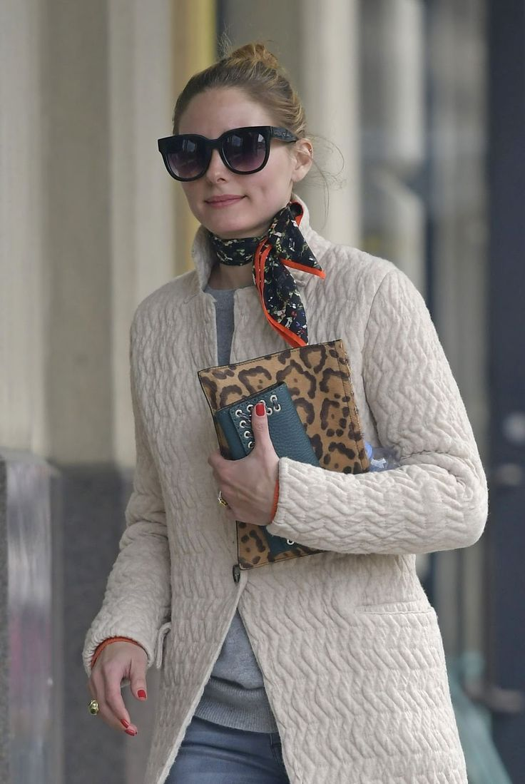 75894d9917b Olivia Palermo in a neck scarf | Clothing | Olivia palermo lookbook ...
