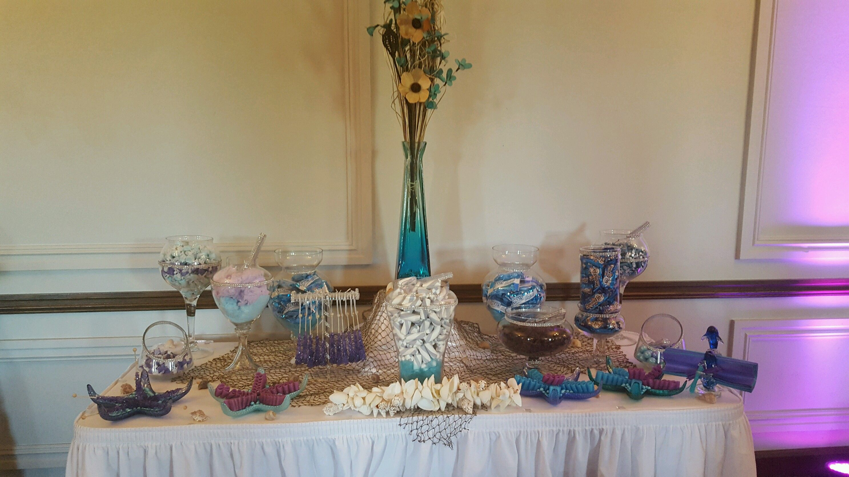 Caribbean Elegance Candy Buffet Bling candy buffet