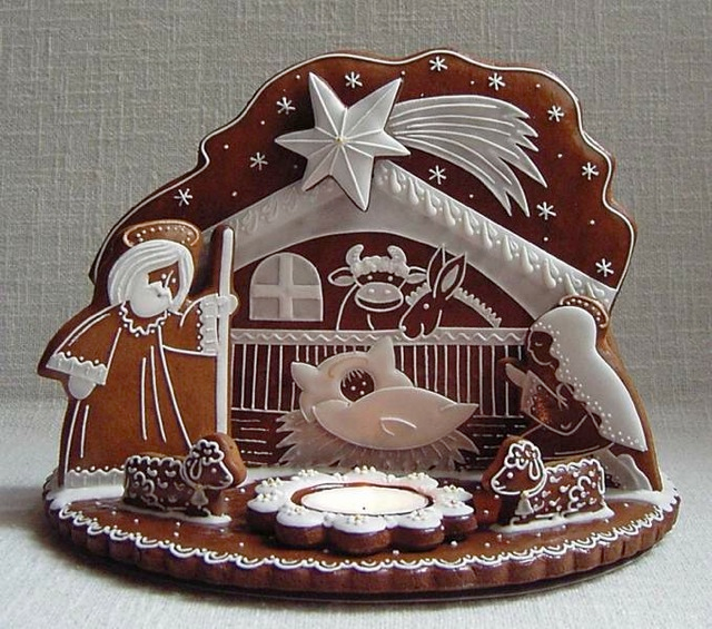 Nativity Cookie 5.jpg in 2020 | Christmas gingerbread house, Gingerbread, Gingerbread house