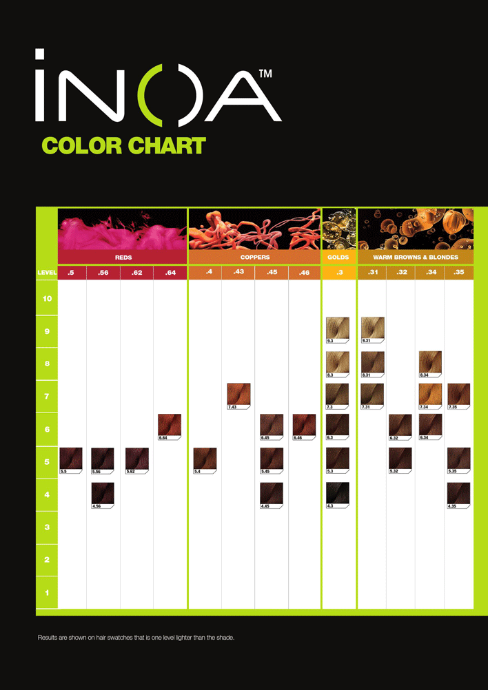 Inoa Color Chart Color Chart Hair Color Chart Hair Color