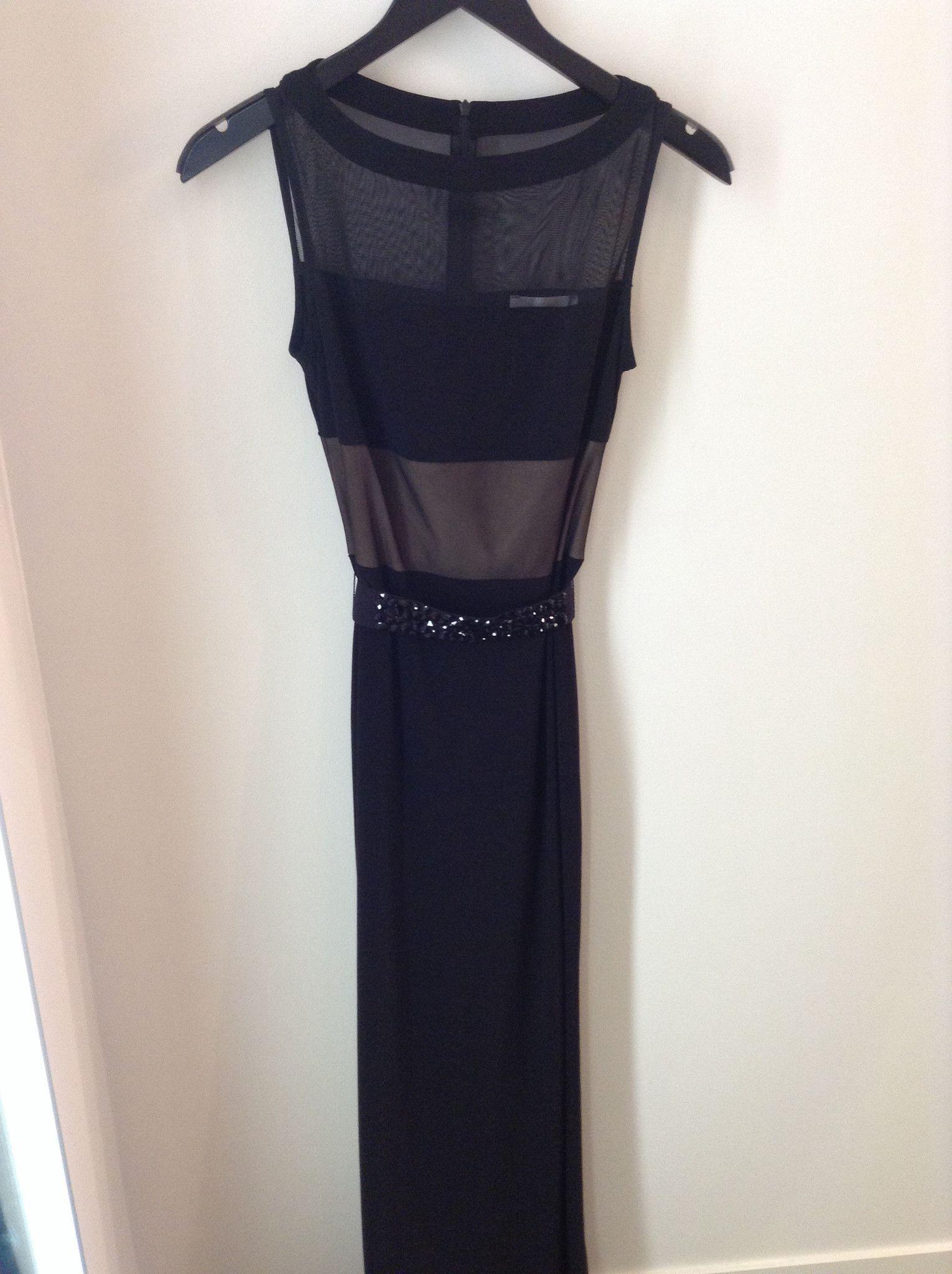 Joseph ribkoff black long dress w jeweled belt dresses