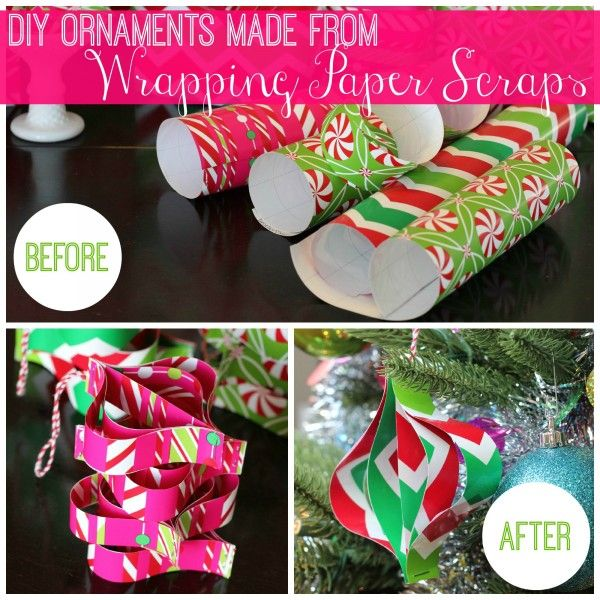 Dont throw those wrapping paper scraps away use them to make diy diy christmas solutioingenieria Images