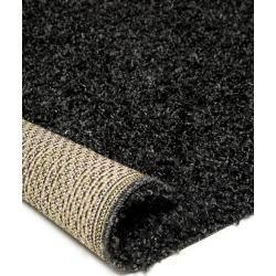benuta Hochflor Shaggyteppich Swirls Anthrazit 200×250 cm – Langflor Teppich für Wohnzimmer benuta