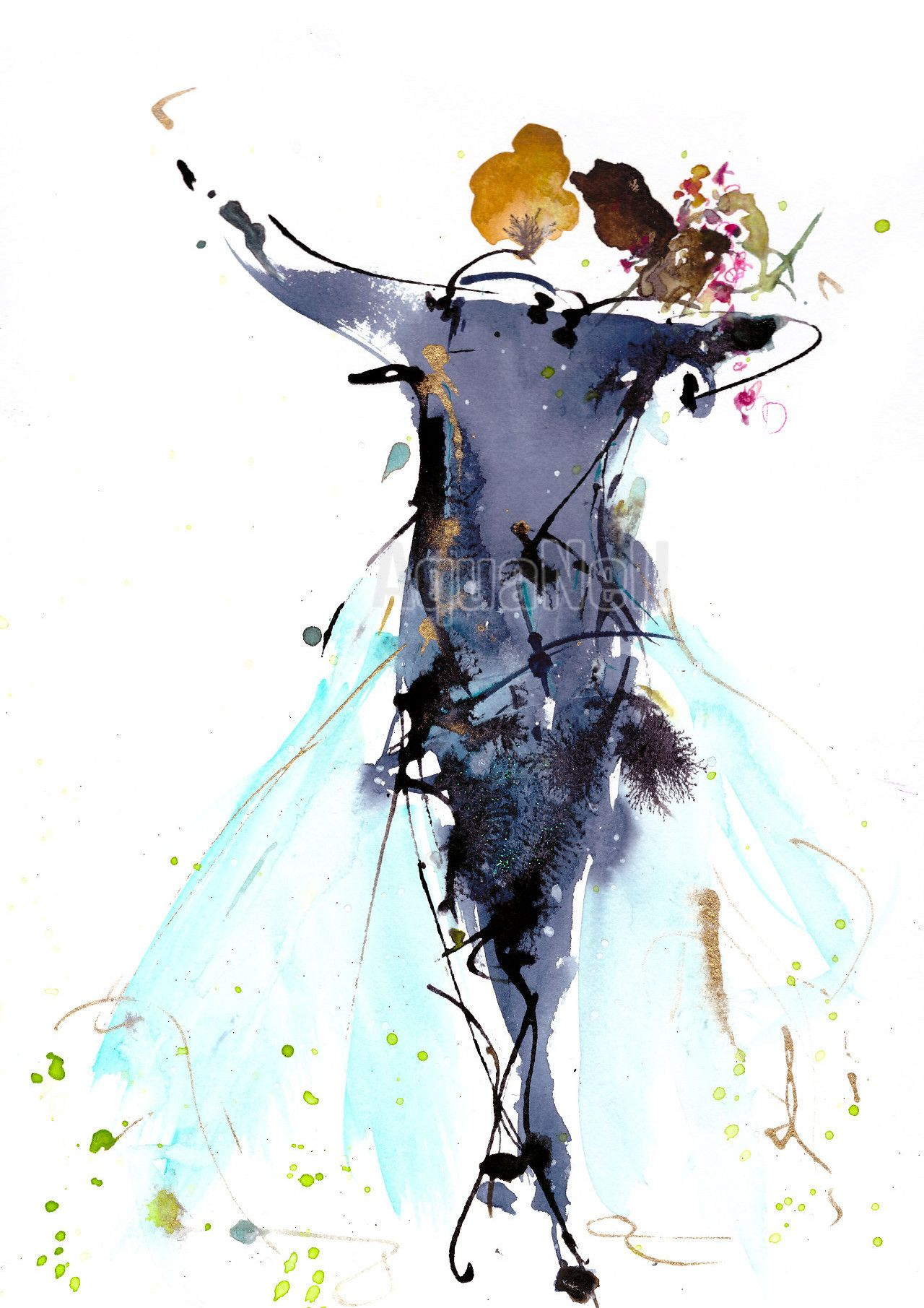 Peinture Aquarelle Mariage Pour Decorer Vos Faire Part Ouverture