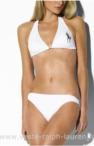 deae77905016d boutique Officielle maillot de bain Ralph Lauren femme mode02 big pony  blance Ralph Lauren Short De Bain