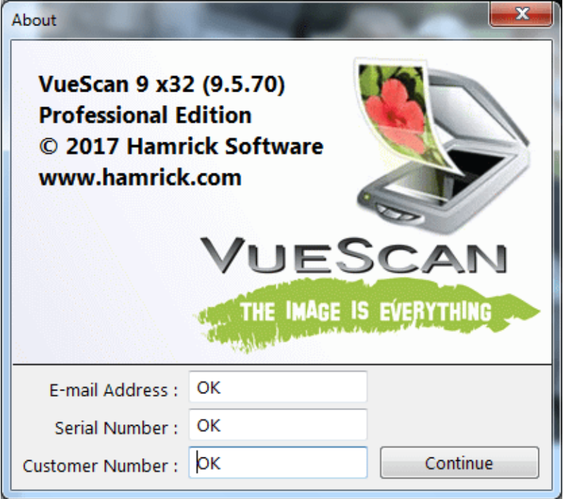 vuescan professional serial number