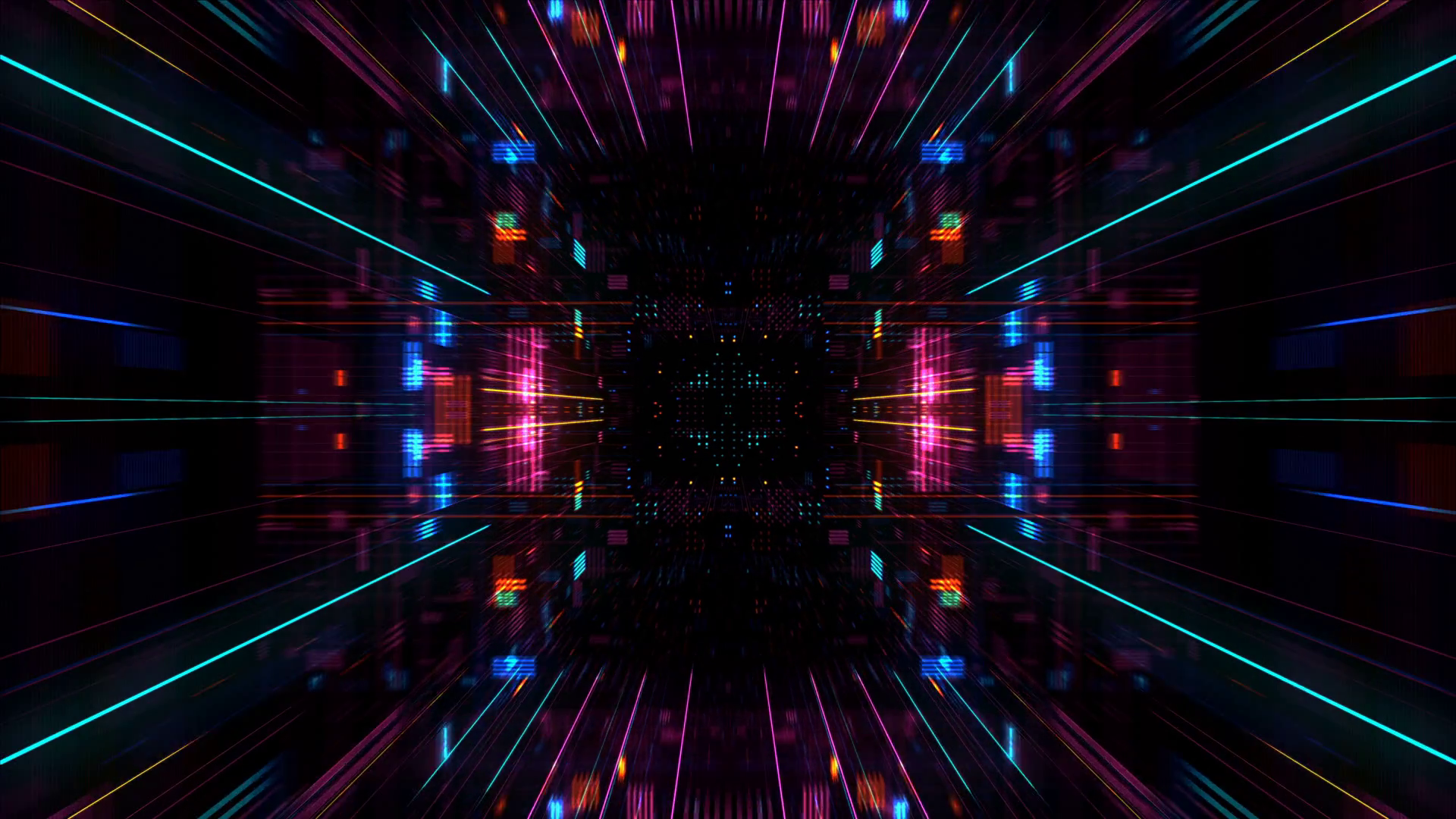 0d3455ff4985 Abstract futuristic sci fi warp tunnel with particle grid. Motion ...