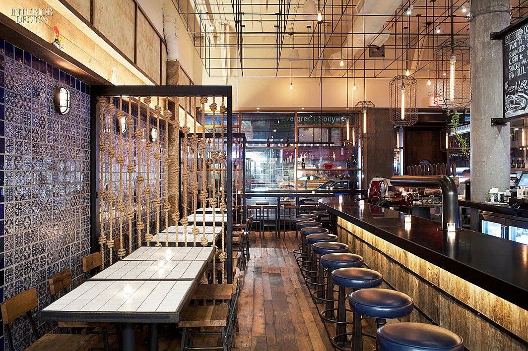 12 Nyc Restaurants Serve Up Hot Design Lupulo By Creme In The Garment District Interiordesign Interiordesignmagazine Projects