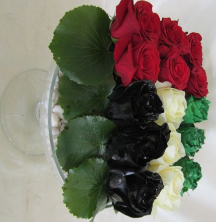 UAE flag bouquet delivered to your door with April Flowers