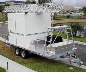 trailer tower with shelter | Mobile Comm | Mobile command center