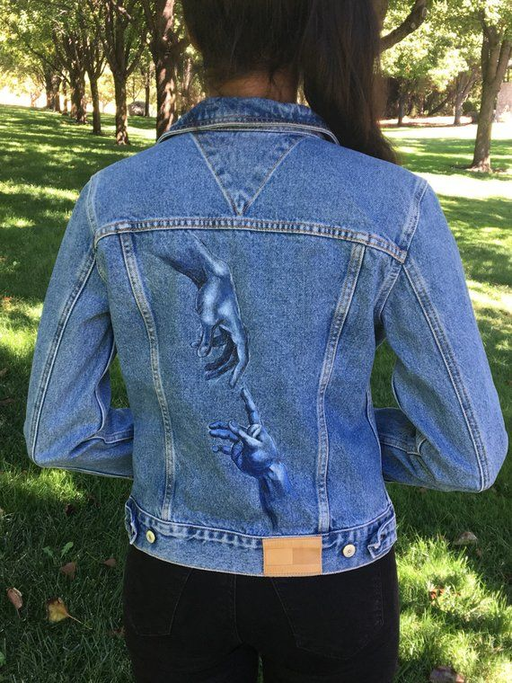 bd0d5765b1 creation of adam hand-painted Tommy Hilfiger denim jacket in 2019 ...