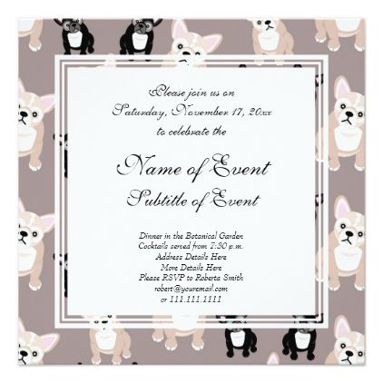 Cute french bulldog puppy pattern card stopboris Choice Image
