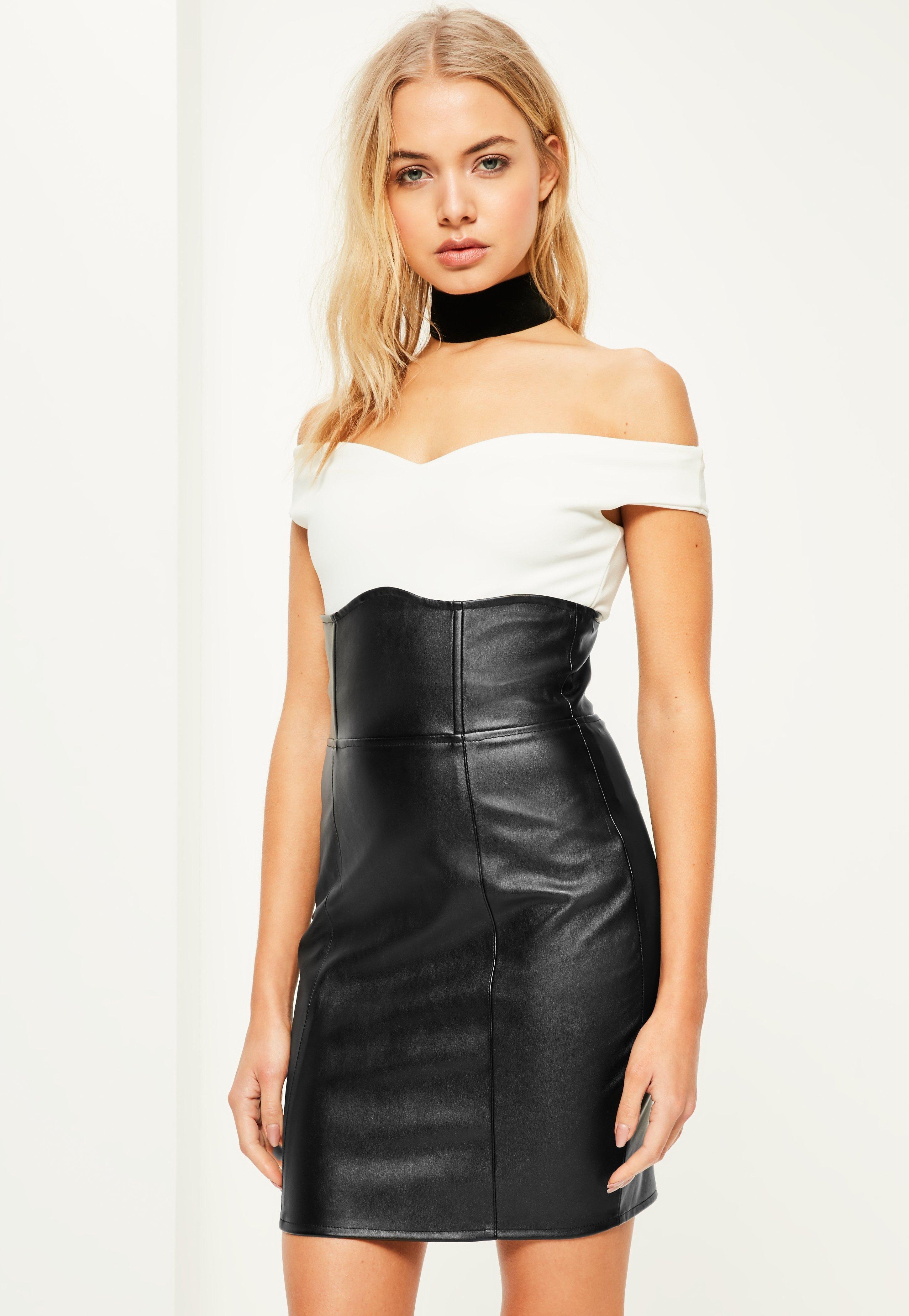 Missguided - Black Faux Leather Super High Waisted Mini Skirt ... 8e68fb4e3
