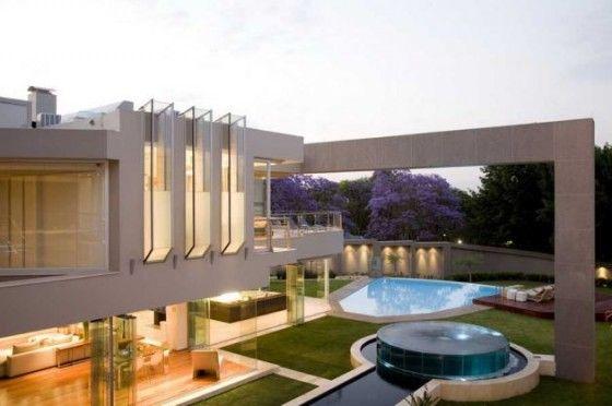 Modern Open Plan Glass House Design In Johannesburg South Africa