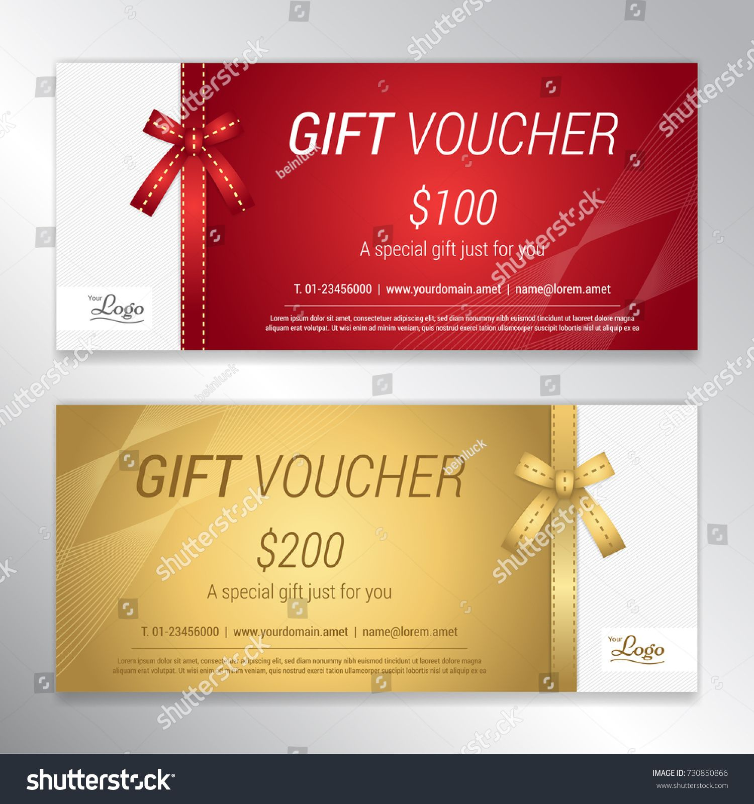 Gift Voucher Certificate Or Discount Card Template For Promo Complimentcertificate Discount Gift Voucher Gift Vouchers Discount Card Card Template