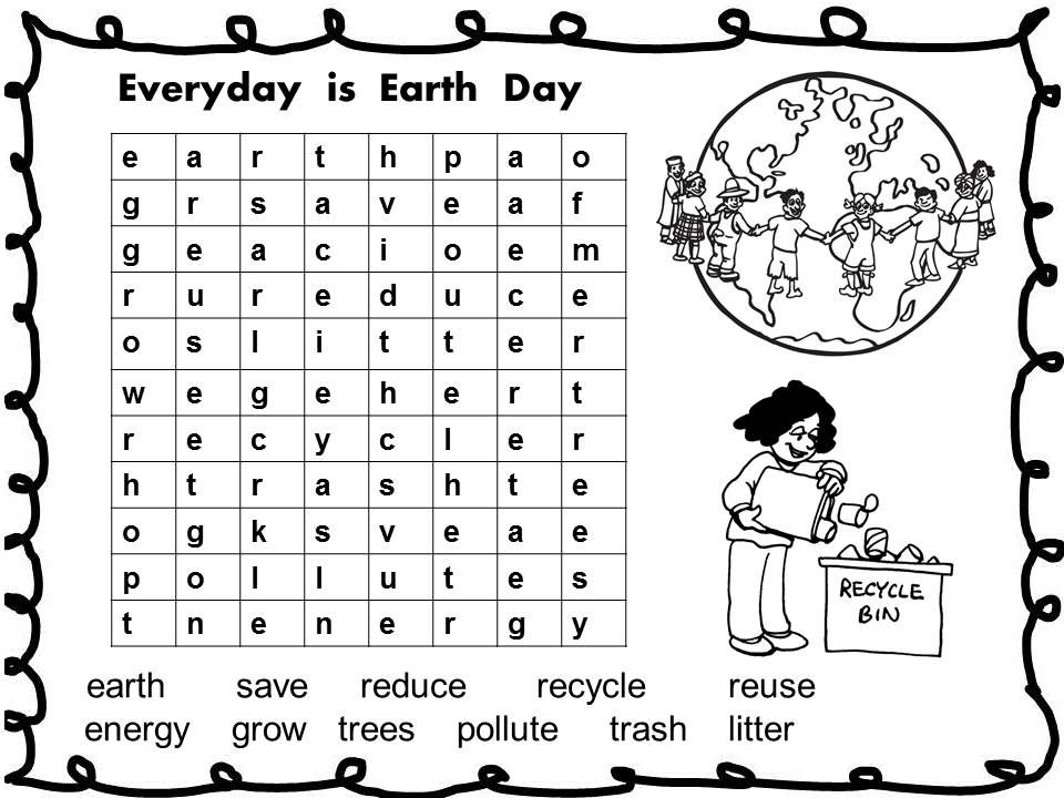 Earth science worksheets for 1st grade