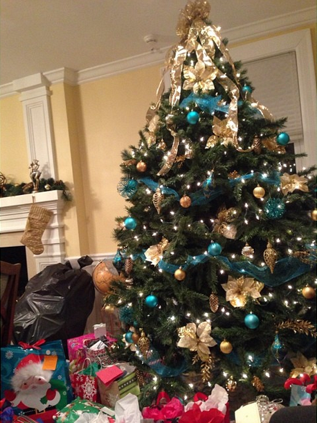 Gamma Iota S Christmas Tree Surrounded With Presents For Our Annual Lanz Christmas Gift Exchange Holid Christmas Gift Exchange Christmas Tree Christmas Gifts