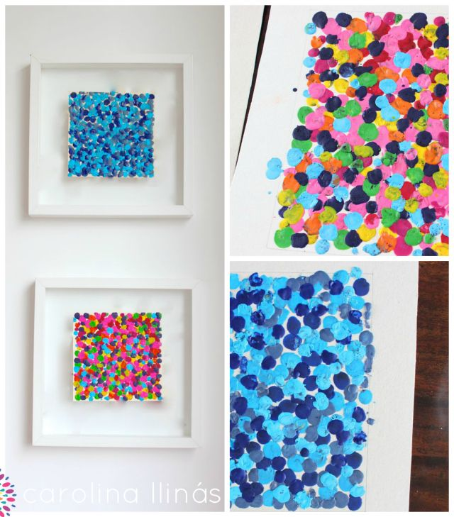 Cuadros con crayones derretidos juegos para ni os 5 a 7 for Ideas para pintar cuadros