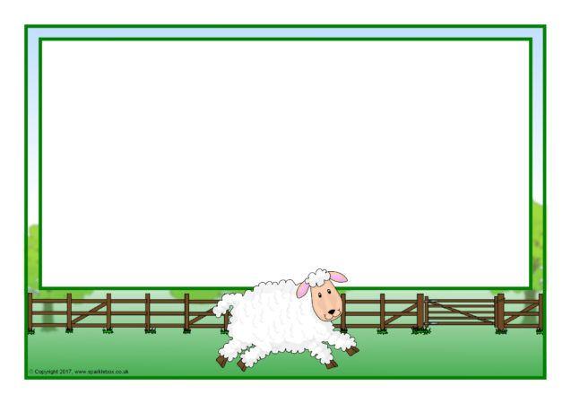 Sheep A4 Page Borders (SB12265) - SparkleBox | Page ...
