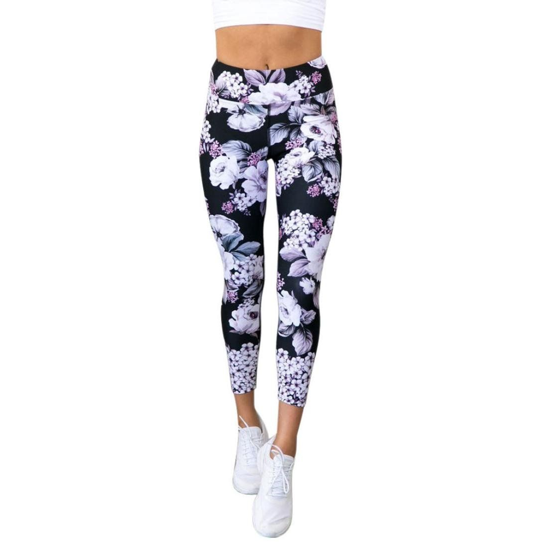 Women Yoga Leggings Exercise Sports Running Gym Workout Jogging Pants Trouser 8