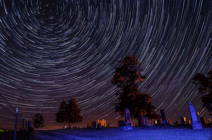 Essential TIps for Shooting Night Landscapes — Cemetery star