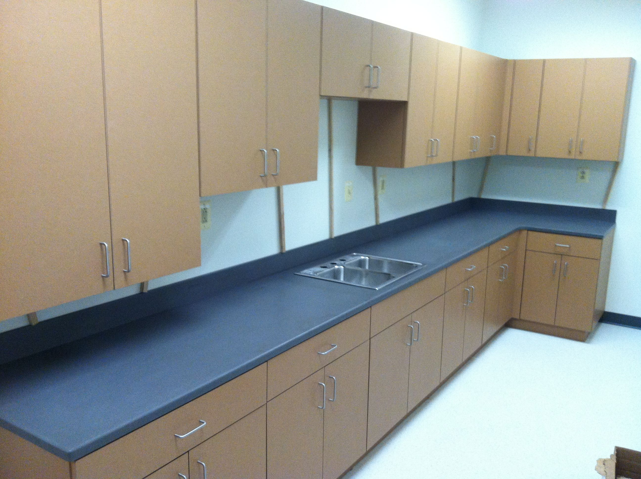 Custom Laminate Cabinets with Solid Surface Corian Countertop ...