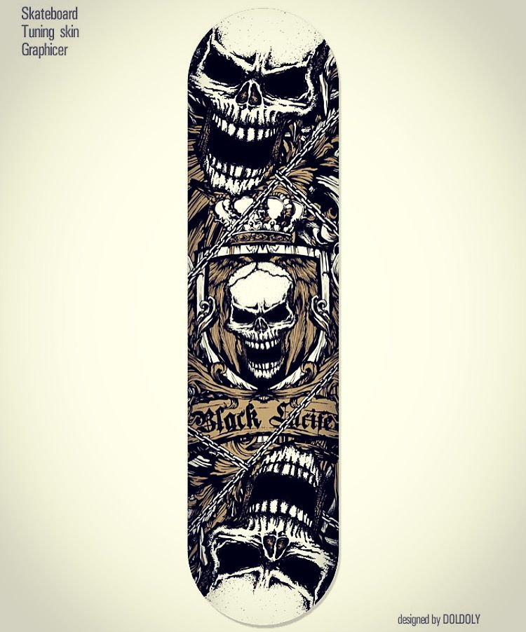 Black lucifer death skull.  Skateboard' deck graphic design. Extreme character design. Designed by doldol. www.graphicer.co.kr.  #graphicdesign #deck #skateboard #snowboard #sk8 #character #design #longboard #sticker #skin #mtb #bike #monster #스케이트보드 #skull #스케이트보드디자인 #스케이트보드스티커 #그래피커 #sharkdog #캐릭터디자인 #스캡 #surf #서핑 #graffiti #sports #pattern #bike #tattoo #doldoldesign #lucifer #해골