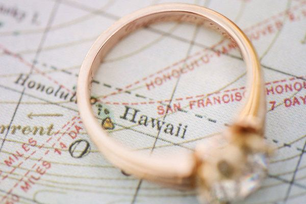 Ring picture over your honeymoon location!