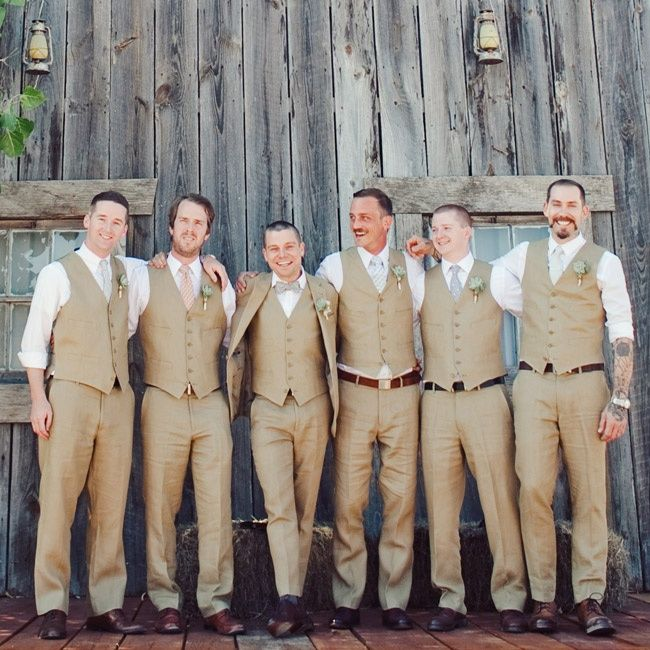 Striking Groomsmen Attire Photo By The Nichols Theknot Weddings Album A Retro Rustic Wedding In Austin Tx 136754