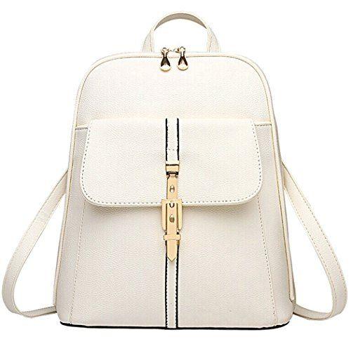 Coofit Fashion Girl Leather Mini School Bag Travel Backpack ...