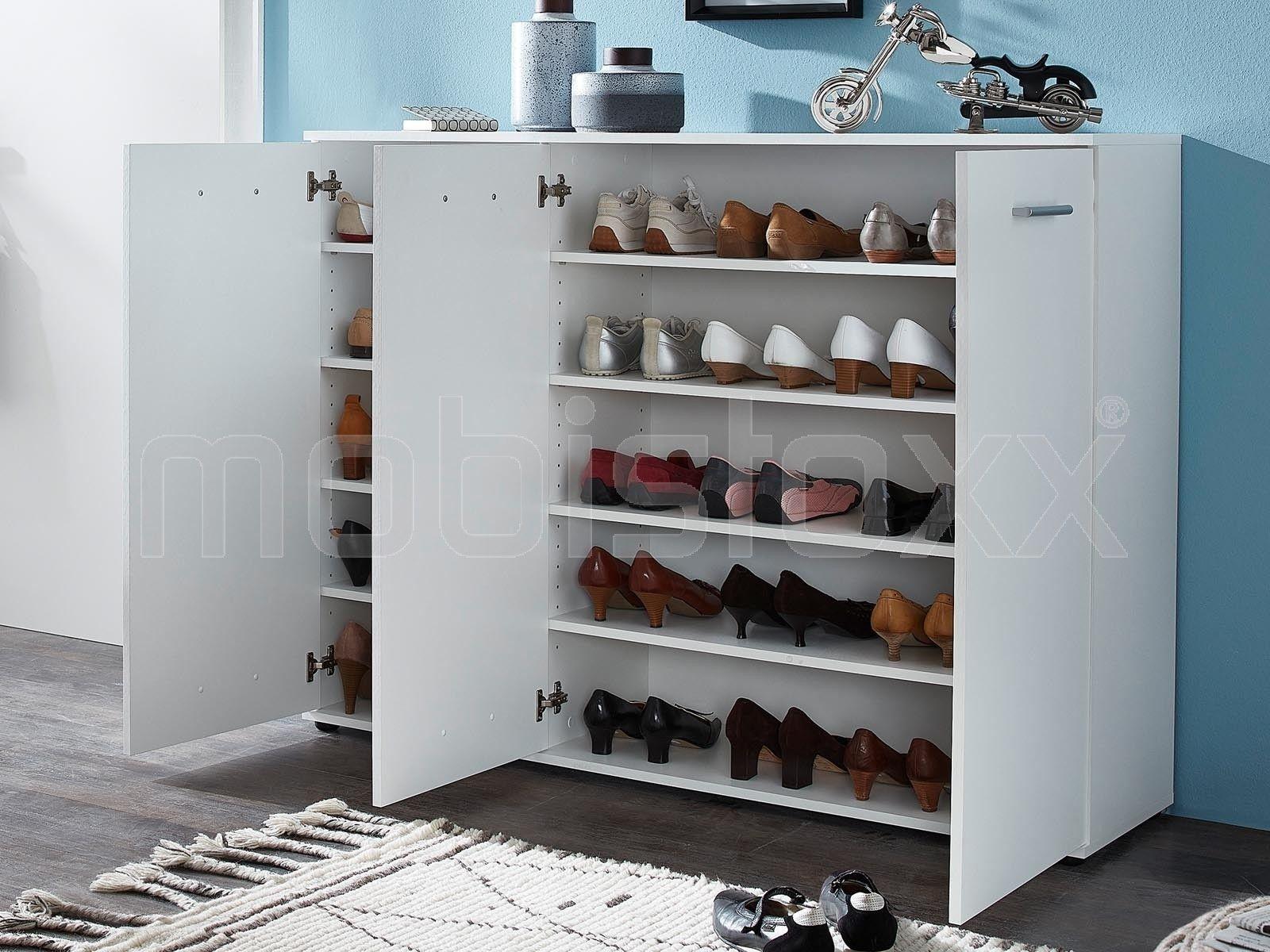 Armoire A Chaussures Bombyx 3 Portes Blanc Chez Mobistoxx Placard Chaussure Meuble Chaussure Armoire Chaussures