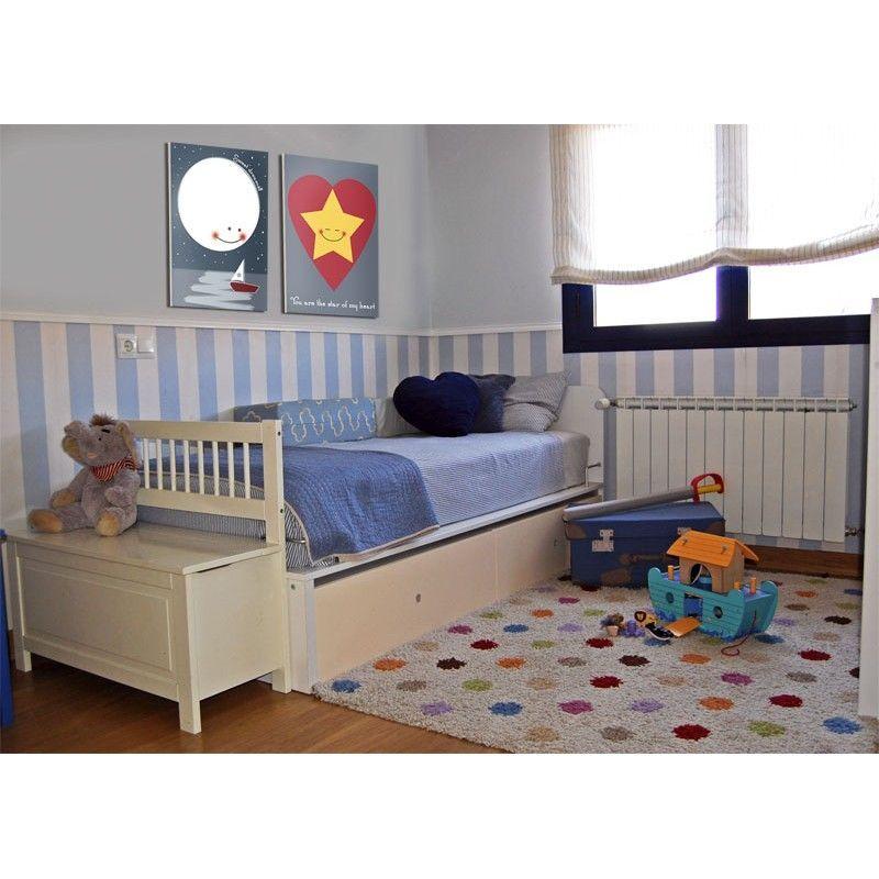Cuadro infantil Estrella y Corazón para decoración en habitación ...