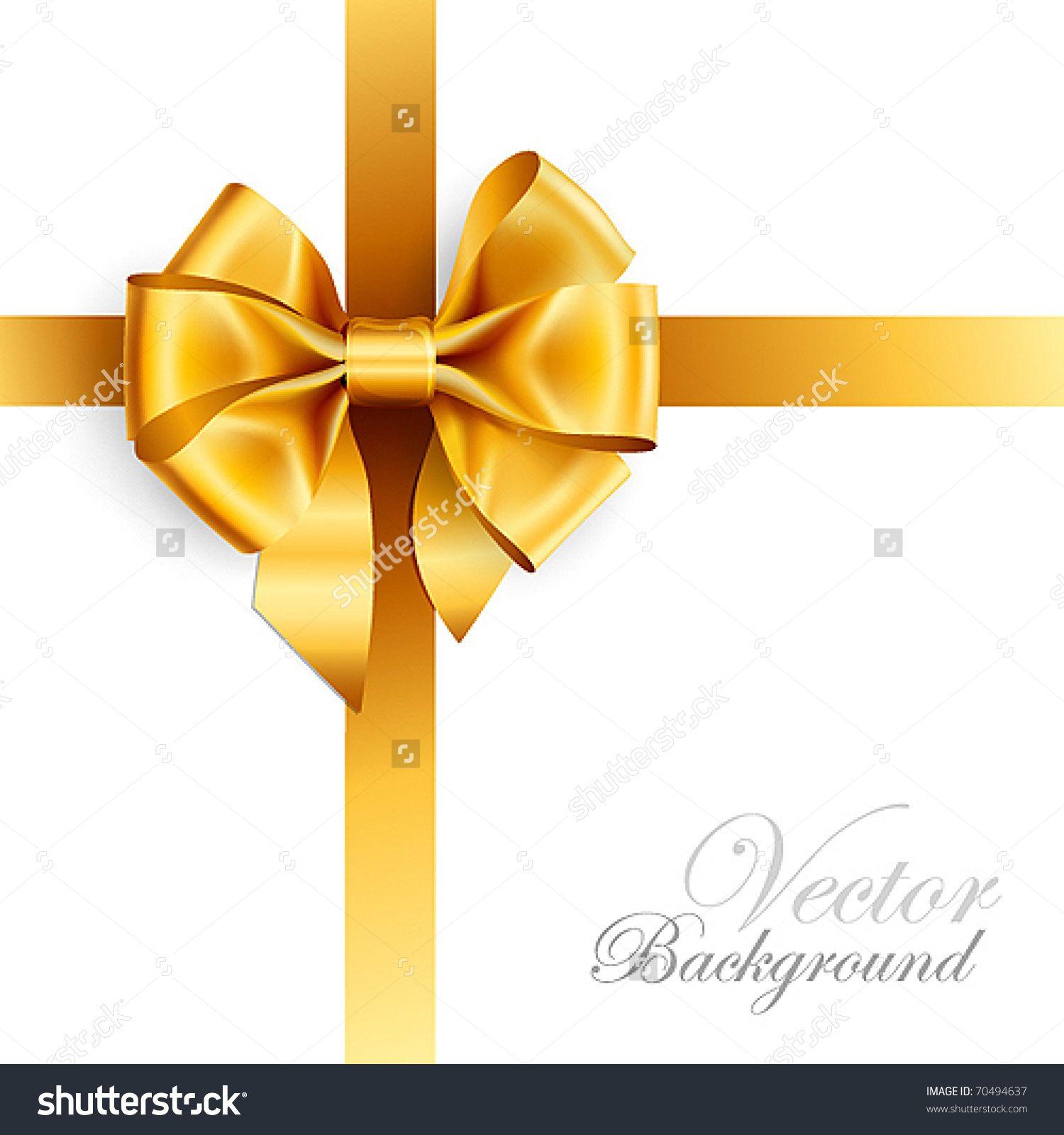 Stock Vector Golden Bow Isolated On White Vector Illustration 70494637 Jpg Izobrazhenie Jpeg 1500 1600 Pikselov Bow Vector Gold Christmas Bows Gift Bows