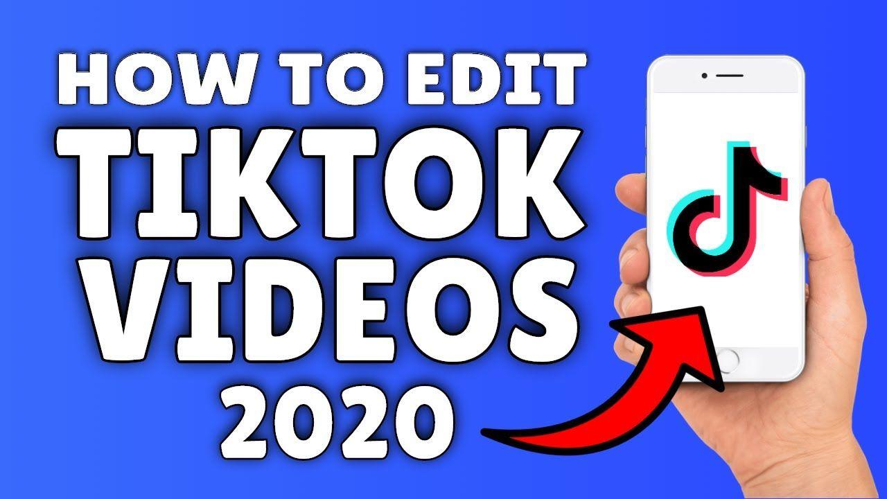 How To Edit Tiktok Videos 2020 Updated Tik Tok Video Editing Tut Video Editing Editing Tutorials Tik Tok