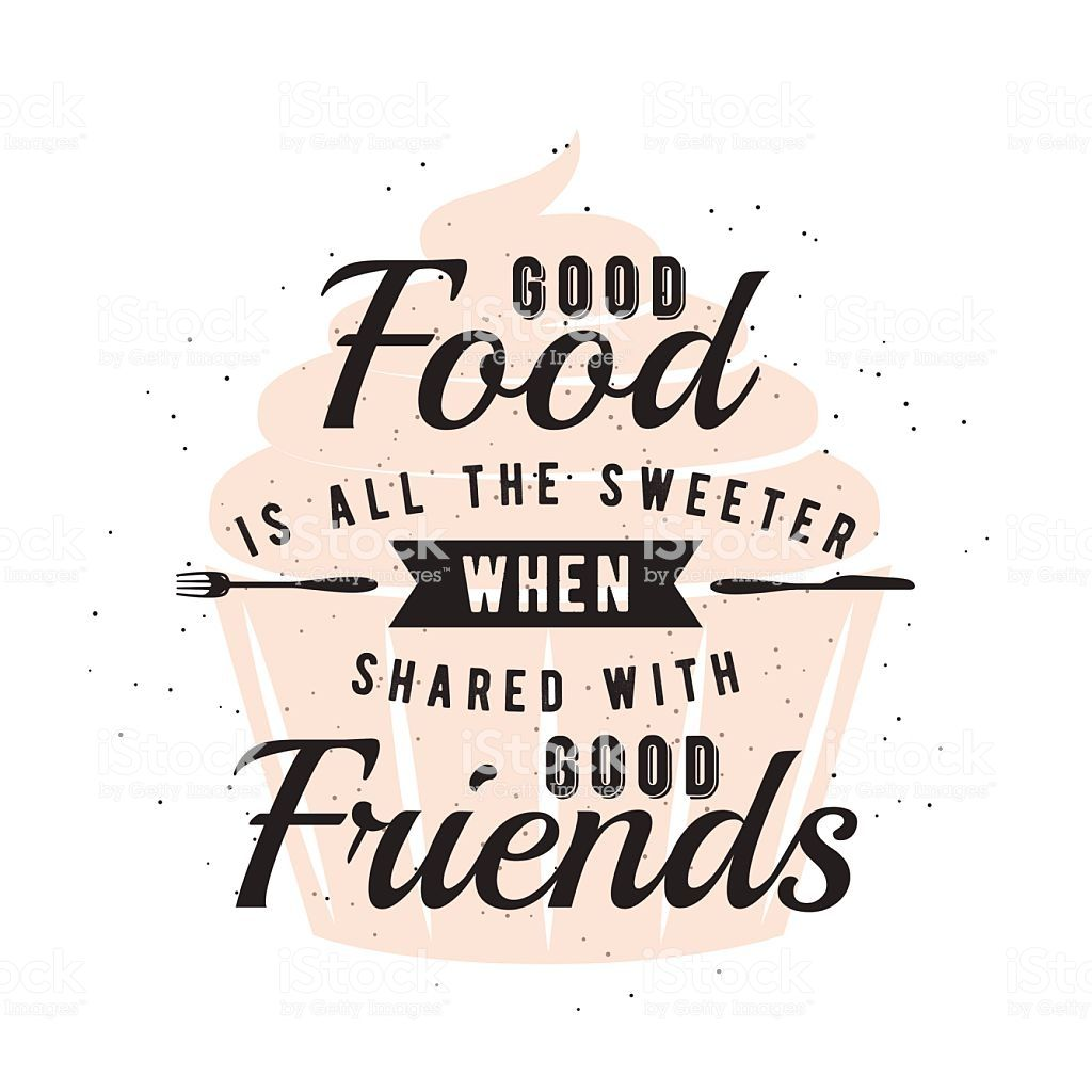 Food related typographic quote. Vector illustration